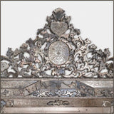 Magnificent large Venetian mirror with floral fretwork
