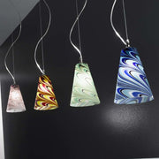 Retro-style Murano glass ceiling pendant in 4 colours
