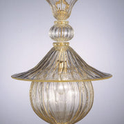 Crystal and gold ceiling lantern