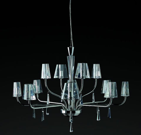 Modern Optical Glass Chandelier