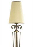 Bronze Italian standard lamp with ornamental golden sphere