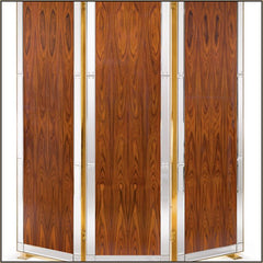 Modern Italian rosewood screen with Venetian mirrored glass