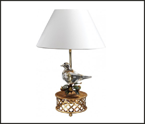 Gold base table lamp with italian glass bird italian lighting centre gold base table lamp with italian glass bird aloadofball Images