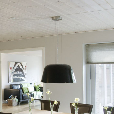Ayers white handblown glass pendant light from Leucos