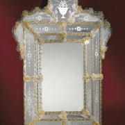 Elaborate Venetian Mirror with Gold detail  with