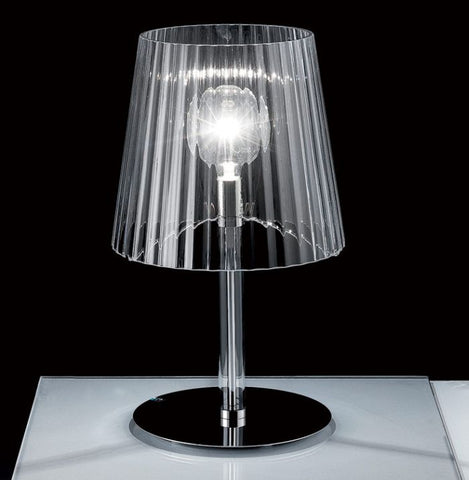 60 cm tall clear or white Murano glass table lamp