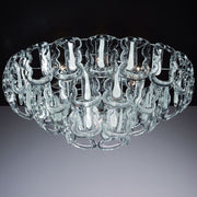 Mid-century glass Hook flush light in custom sizes