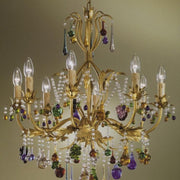 8 Light beaded Murano Fruit Chandelier