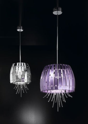 Modern Metallic Ceiling Pendant with Murano Glass Sticks
