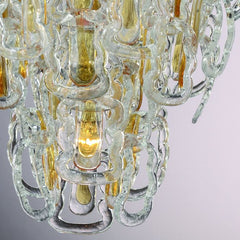 Modern mid-century Murano glass Hook chandelier in custom sizes