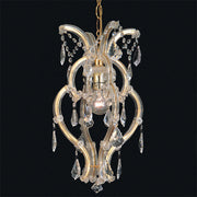Small Maria Theresa one light chandelier with Scholer crystals