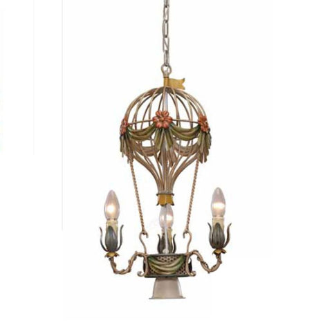 1950's style hot air balloon chandelier