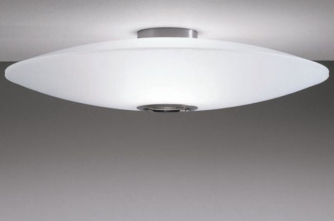 Extra white or mirror glass ceiling light from Prandina