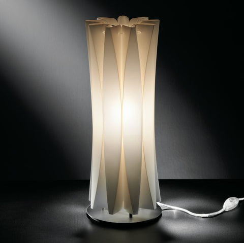 Bach M White or Gold Opalflex table lamp from Slamp