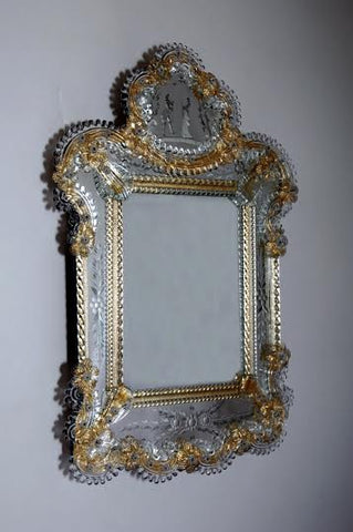 Decroative 17th Century Venetian Mirror