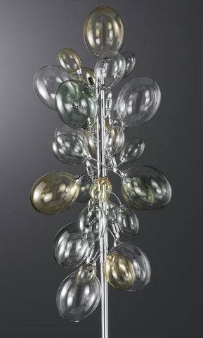 Nuvola clear,yellow and green glass balloon floor lamp