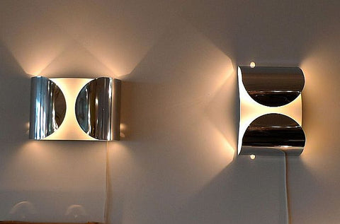 Foglio chrome wall lamp from Flos – also in black & white