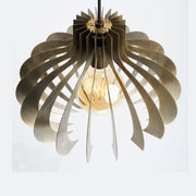 Brass designer pendant light with red white or black cable