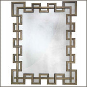 Large bronze Venetian mirror in 20s and 30s art deco style