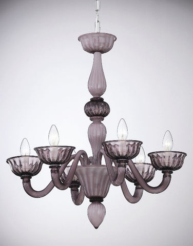 Amethyst murano glass chandelier with 6 lights italian 6 arm two tone amethyst 6 light murano chandelier aloadofball Choice Image