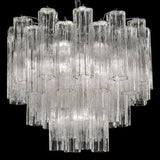 Mid-century 60 cm Tronchi-style chandelier in Murano glass