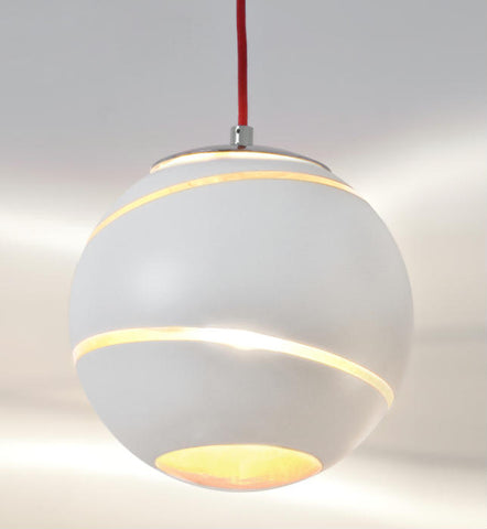 Bond white or black glass ceiling pendant by Terzani