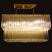 Custom gold or chrome plated rectangular prism light