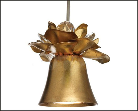 Gold Metal Spotlight with Flower Petals & Swarovski Elements