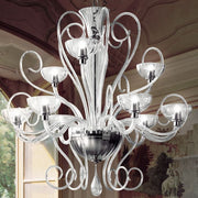 Italian glass 9 light Murano due Gallery chandelier