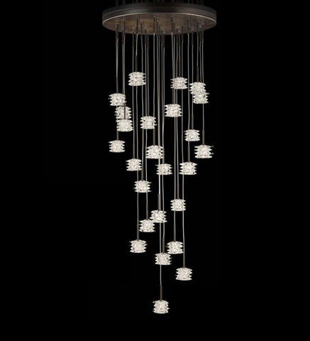 Customizable modern rustic cluster chandelier