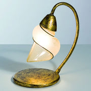 Amber 'scavo' glass table lamp with gold leaf base