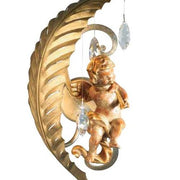 Gold Metal Angel Sconce with Swarovski Elements Crystals