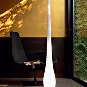 Tall white Murano glass droplet floor lamp