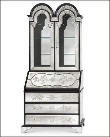 Classic Venetian mirrored glass secretaire