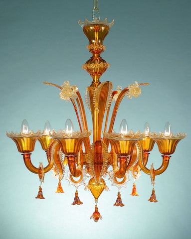 Topaz Murano Glass Chandelier