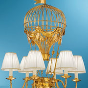Hot Air Balloon Gold Leaf Chandelier