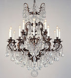 Bohemian crystal chandelier from Italy with 18 lights