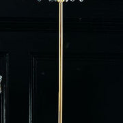 Classic Italian crystal gold-plated chandelier floor lamp