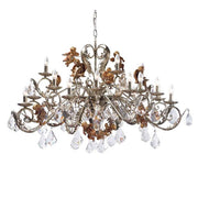 Silver Metal Chandelier with Gold Angels & Swarovski Elements