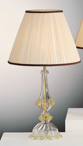 Murano glass lamp base with golden decoration
