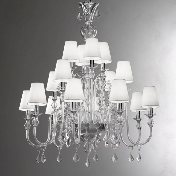 White Glass Chandeliers :