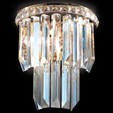 Murano glass or lead crystal prism wall light