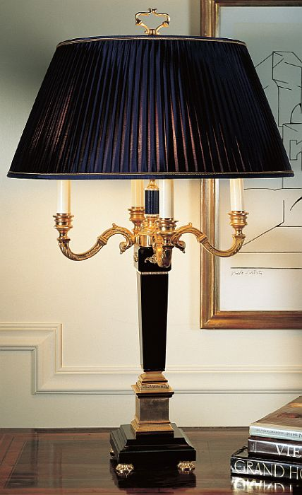 Black Marble And Gold Table Light With Enamel Part 1749 01