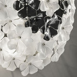 1970s-style flower ceiling  light in the Cenedese style