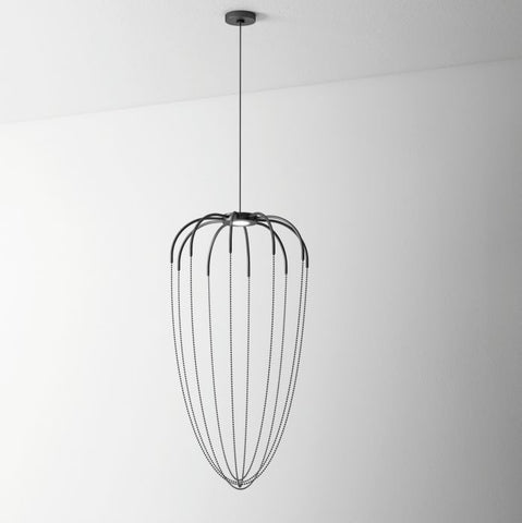Grey Alysoid 51 pendant by Axo Light with black or brass chains