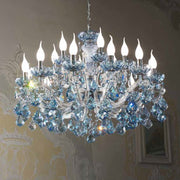 Small Crystal Glass Chandelier