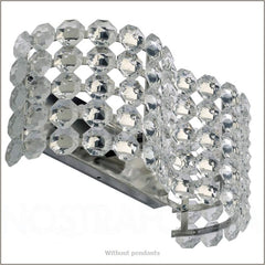 Beautiful wall light with Swarovski crystal pendants