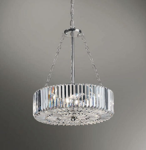Luxury six light glass prism hanging light with custom finishes