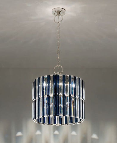 40 cm modern glass prism ceiling pendant with custom options