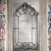Tall 18th century-style antiqued Venetian wall mirror